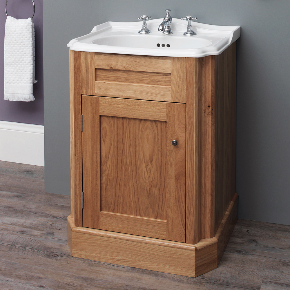 Silverdale Balasani 600mm Wide Vanity Cabinet - Light Oak Large Image