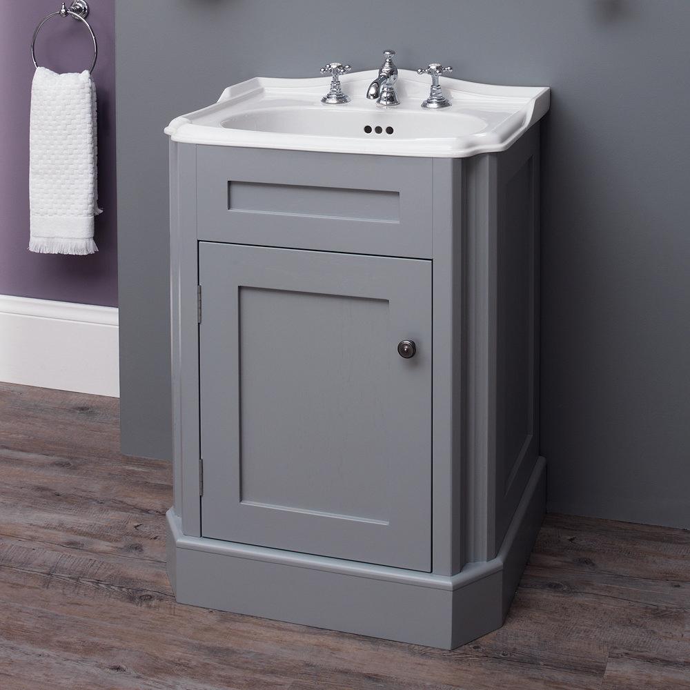 Silverdale Balasani 600mm Wide Vanity Cabinet - Palomba Grey profile large image view 2