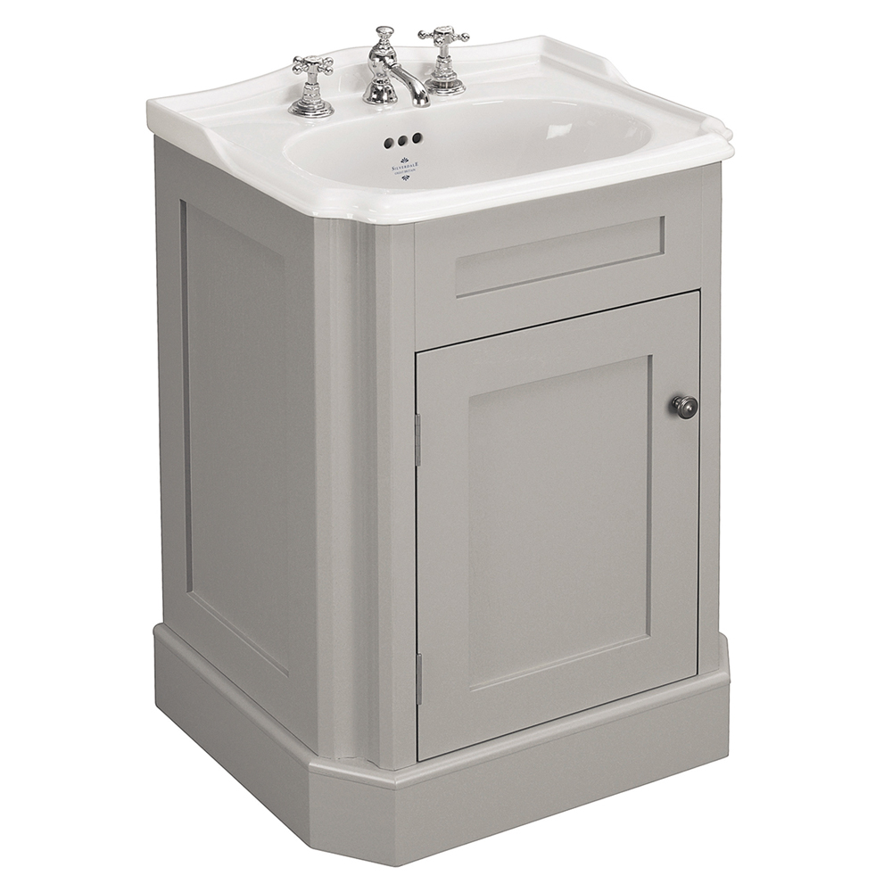 Silverdale Balasani 600mm Wide Vanity Cabinet - Palomba Grey Large Image