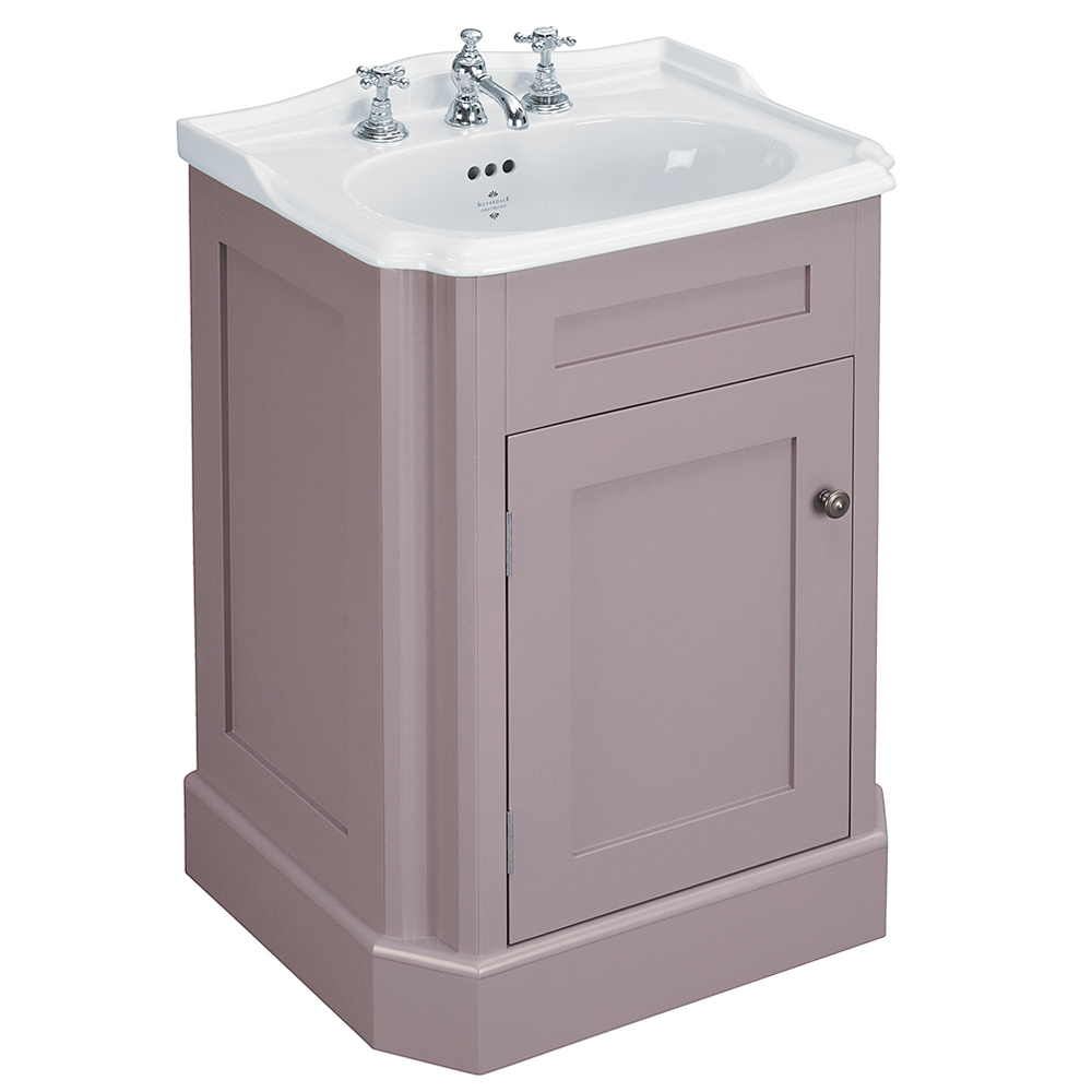 Silverdale Balasani 600mm Wide Vanity Cabinet - Plum Grey Large Image