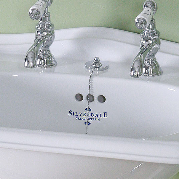 Silverdale Basin Waste with Plug, Chain & Stopper - Various Colours Large Image