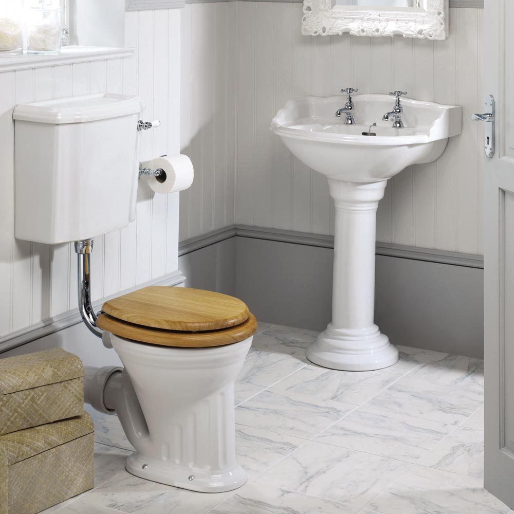 Silverdale Belgravia 635mm Wide Basin with Full Pedestal profile large image view 3