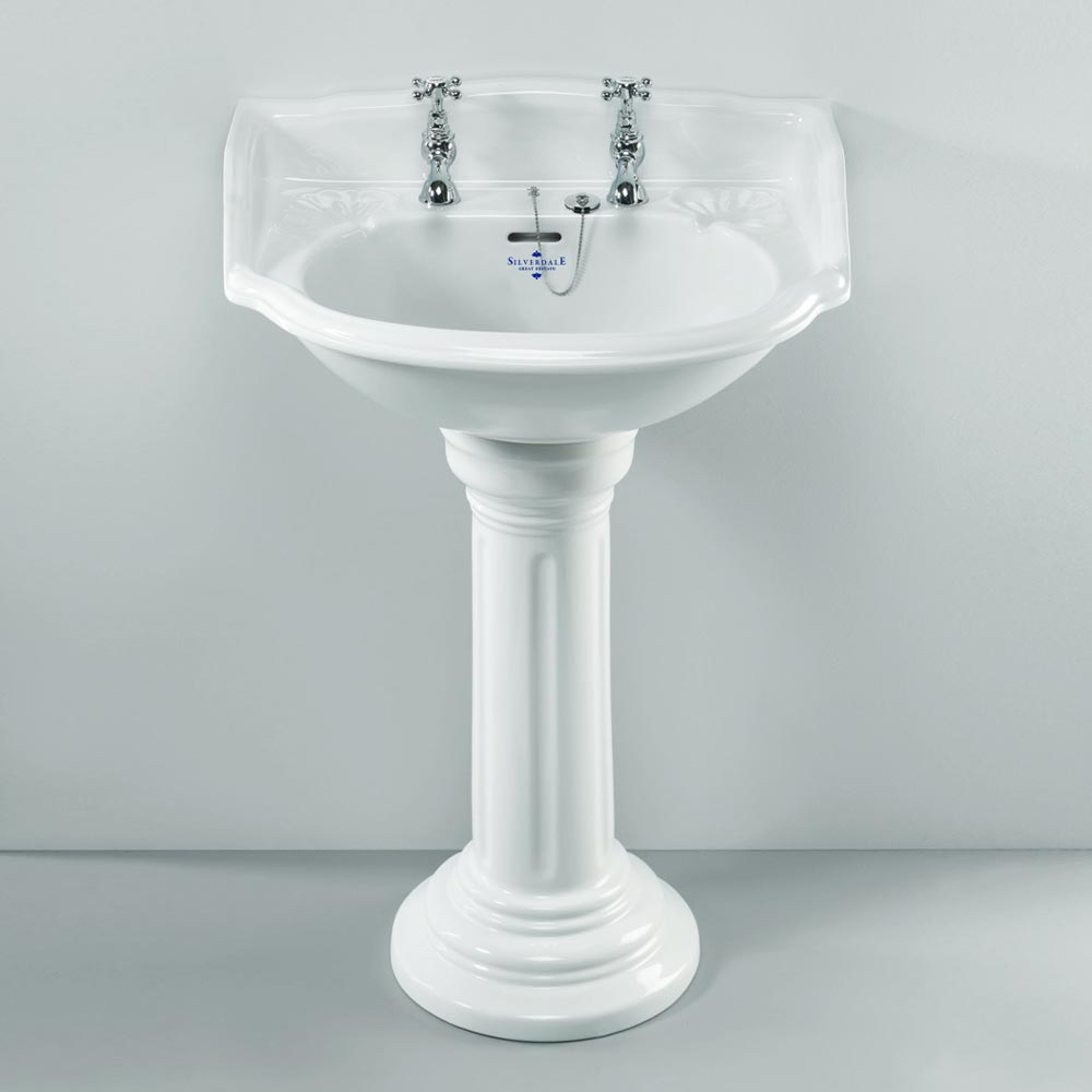 Silverdale Belgravia 635mm Wide Basin with Full Pedestal profile large image view 1