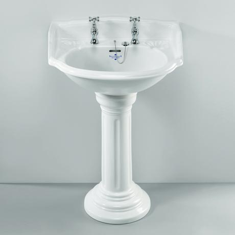 Silverdale Belgravia 635mm Wide Basin with Full Pedestal