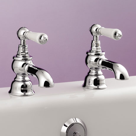 Silverdale Berkeley Bath Pillar Taps Chrome