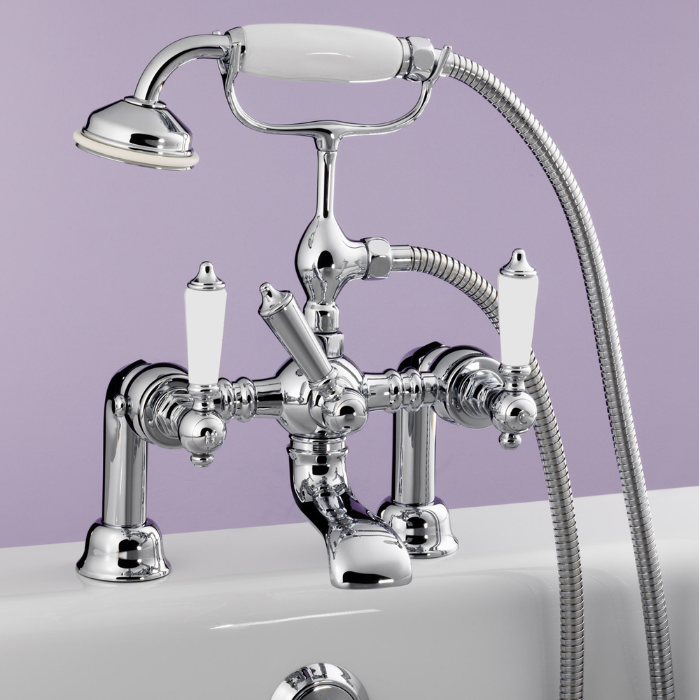 Silverdale Berkeley Bath Shower Mixer Taps Chrome Large Image