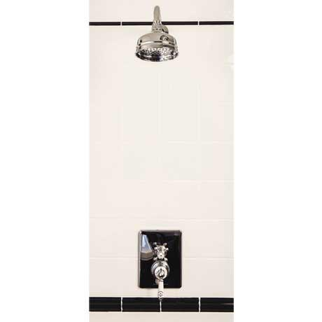 "Silverdale Concealed Thermostatic Shower Valve, Overhead Arm & 5"" Rose"