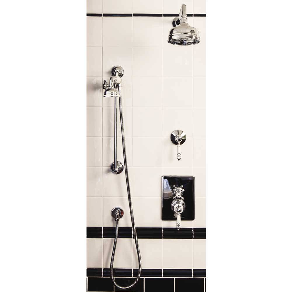 "Silverdale Concealed Thermostatic Valve w Diverter, Arm, 5"" Rose & Slider Rail Kit profile large image view 1"