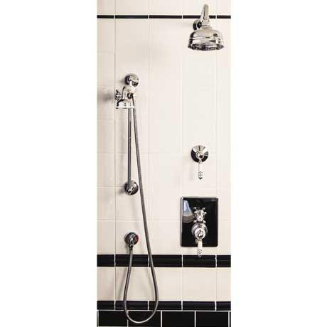 "Silverdale Concealed Thermostatic Valve w Diverter, Arm, 5"" Rose & Slider Rail Kit"