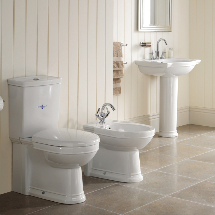 Silverdale Damea 650mm Wide Basin with Full Pedestal Feature Large Image