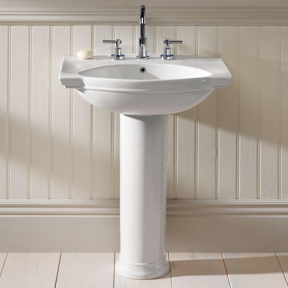 Silverdale Damea 650mm Wide Basin with Full Pedestal Large Image