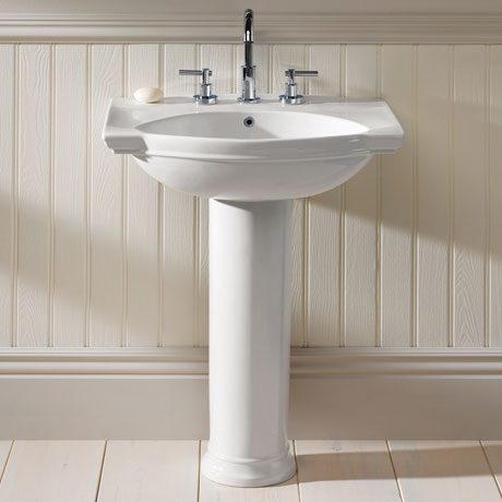 Silverdale Damea 650mm Wide Basin with Full Pedestal