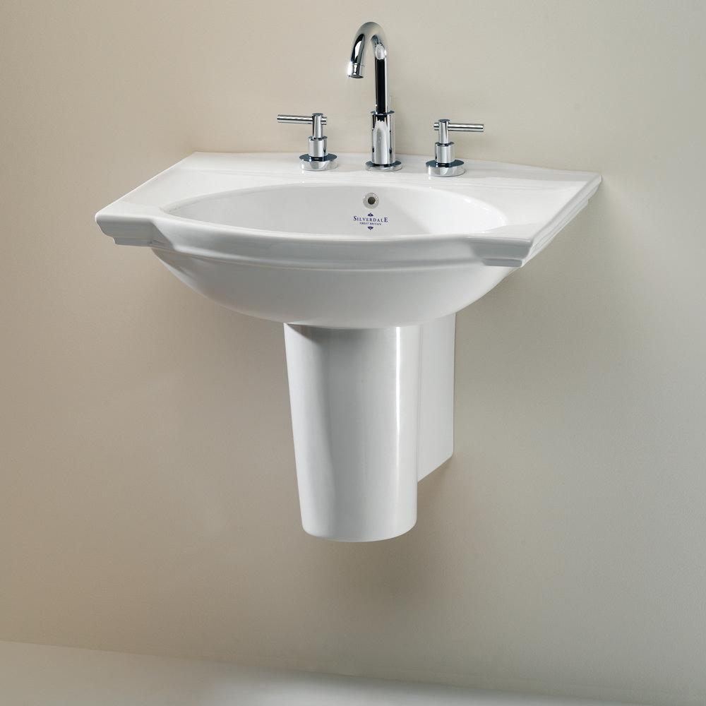 Silverdale Damea 650mm Wide Basin with Semi-Pedestal Large Image