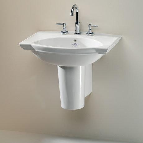 Silverdale Damea 650mm Wide Basin with Semi-Pedestal
