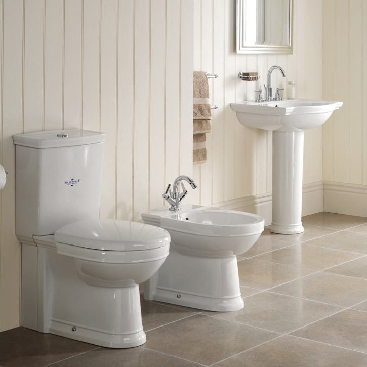 Silverdale Damea Floor Standing BTW Bidet - 1 Tap Hole profile large image view 2