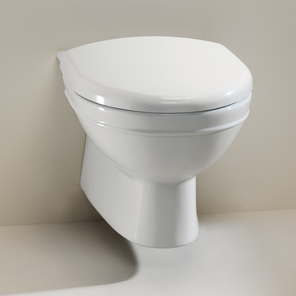 Silverdale Damea Wall Mounted Toilet inc Soft Close Seat profile large image view 1