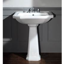 Silverdale Empire Art Deco 700mm Wide Basin with Full Pedestal Medium Image