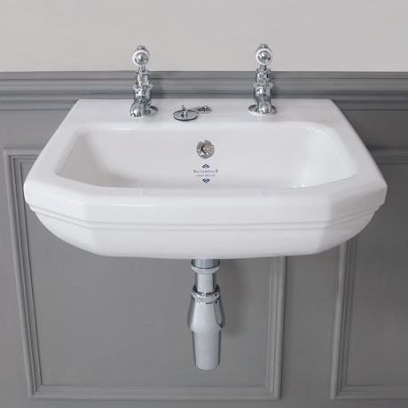 Superbe Silverdale Empire Art Deco Cloakroom Basin   450mm Wide