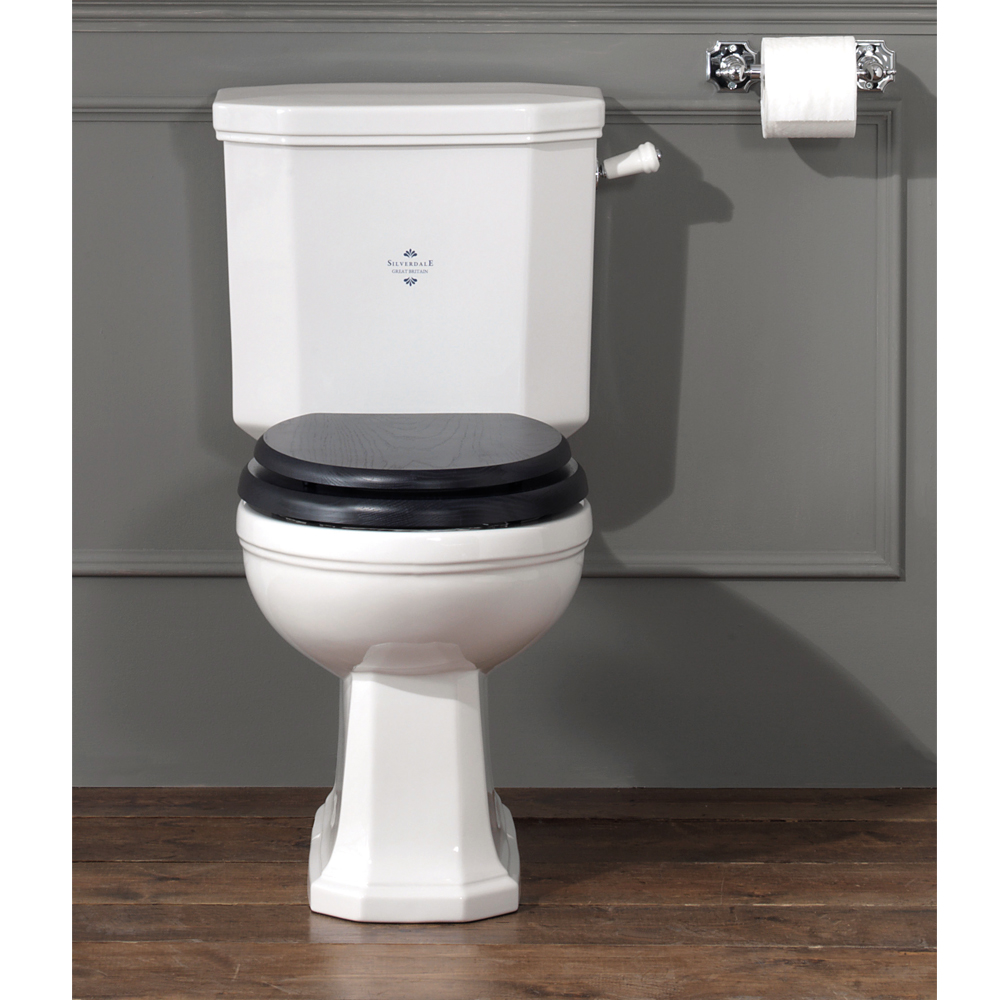 Silverdale Empire Art Deco Close Coupled Toilet - Excludes Seat profile large image view 1