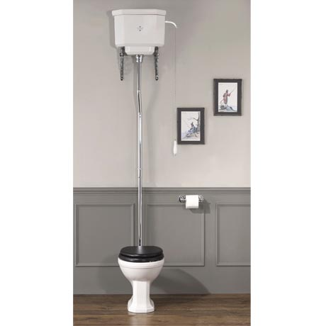 Silverdale Empire Art Deco High Level Toilet - Excludes Seat