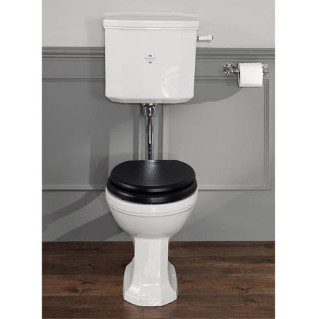 Silverdale Empire Art Deco Low Level Toilet - Excludes Seat