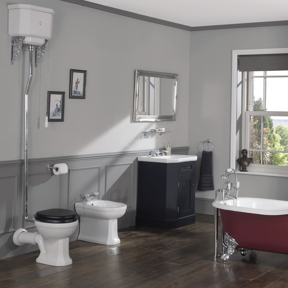 Silverdale Empire Floorstanding Bidet - 1 Tap Hole profile large image view 2