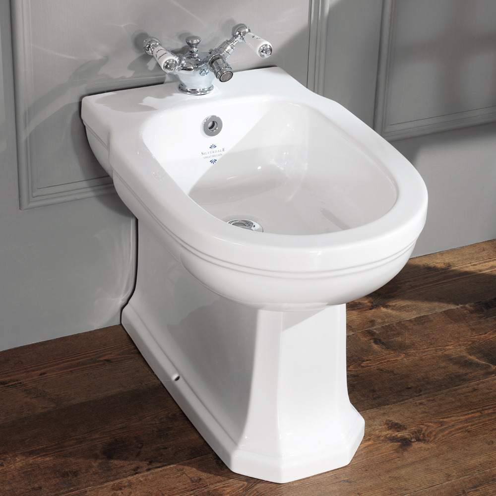 Silverdale Empire Floorstanding Bidet - 1 Tap Hole profile large image view 1