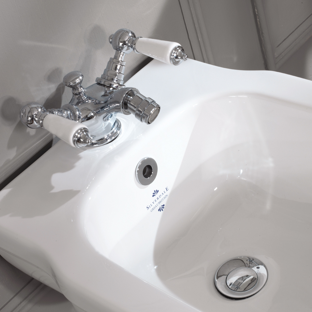 Silverdale Empire Wall Hung Bidet - 1 Tap Hole Profile Large Image