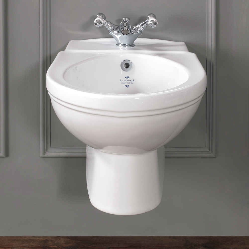 Silverdale Empire Wall Hung Bidet - 1 Tap Hole Large Image