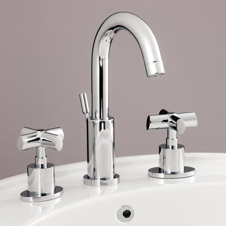 Silverdale Highgrove 3TH Basin Mixer with Pop Up Waste Chrome