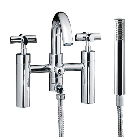 Silverdale Highgrove Bath Shower Mixer Bridge Taps Chrome