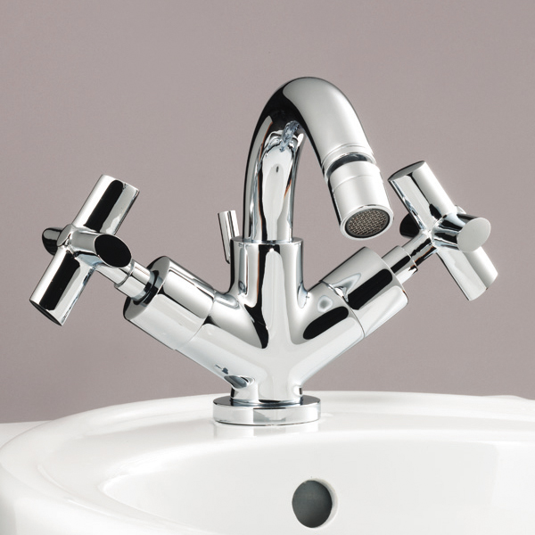 Silverdale Highgrove Mono Bidet Mixer Tap with Pop Up Waste Chrome Large Image
