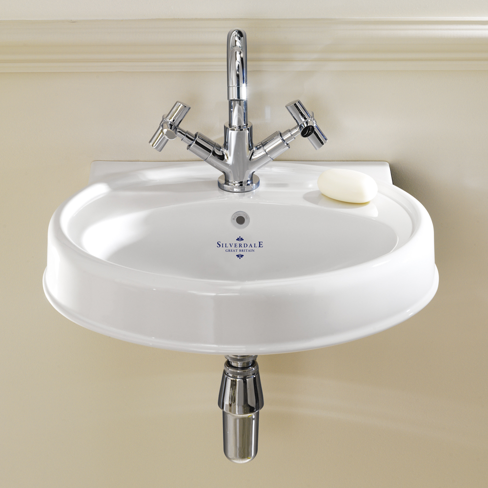 Silverdale Highgrove Traditional Cloakroom Basin - 490mm Wide Large Image