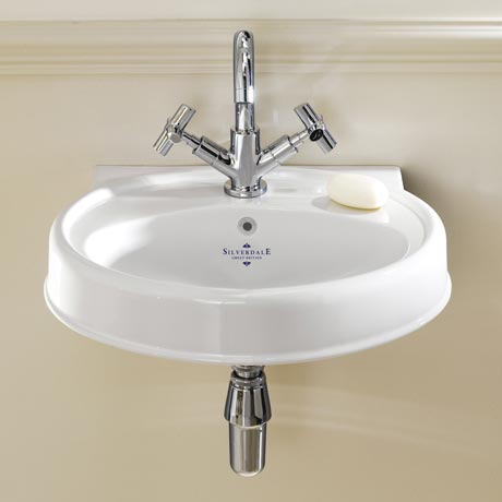 Silverdale Highgrove Traditional Cloakroom Basin - 490mm Wide