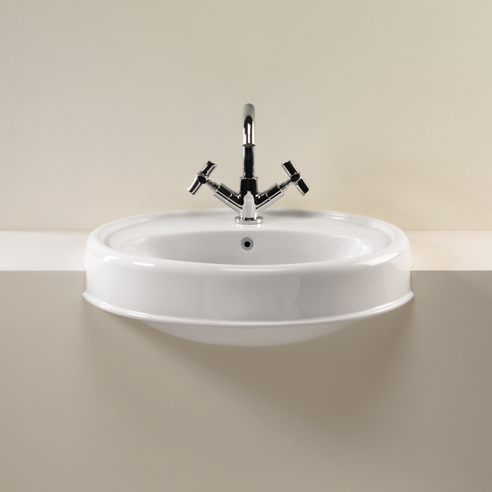 Silverdale Highgrove Traditional Semi Recessed Basin - 580mm Wide Large Image