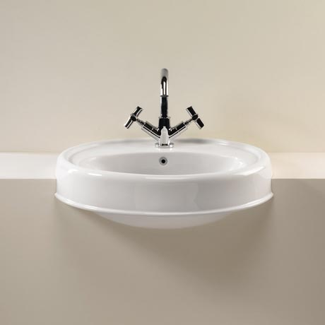 Silverdale Highgrove Traditional Semi Recessed Basin - 580mm Wide