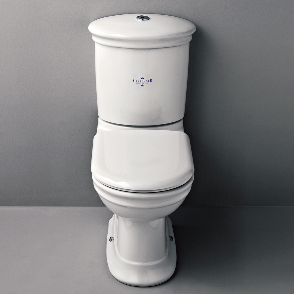 Silverdale Hillingdon Close Coupled Toilet inc Soft Close Seat Large Image