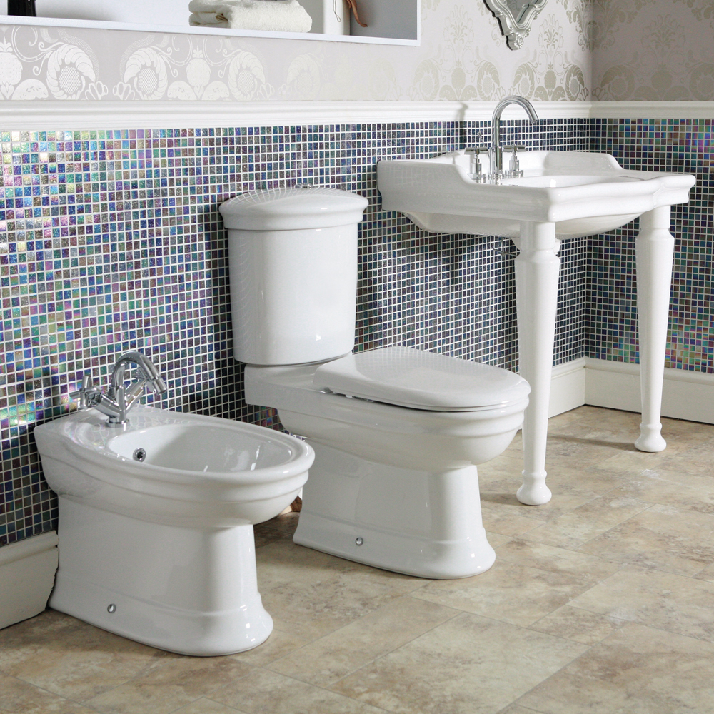 Silverdale Hillingdon Traditional Console Basin inc Legset - 3 Tap Hole profile large image view 2
