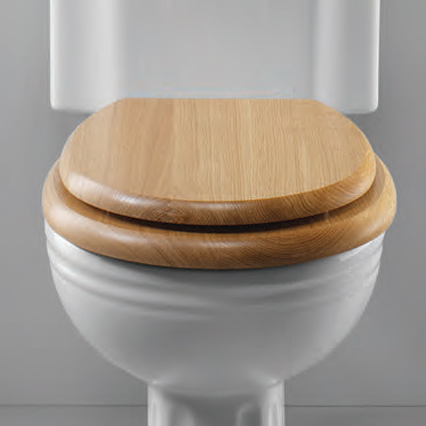 Silverdale Traditional Luxury Light Oak Wooden Toilet Seat profile large image view 1