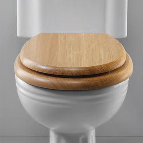 Silverdale Traditional Luxury Light Oak Wooden Toilet Seat
