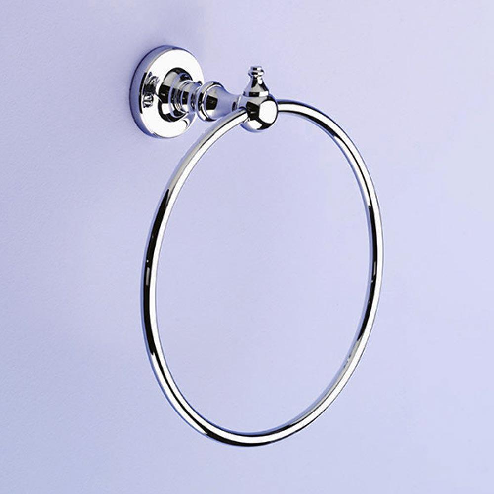 Silverdale Luxury Berkeley Towel Ring - Polished Chrome Large Image