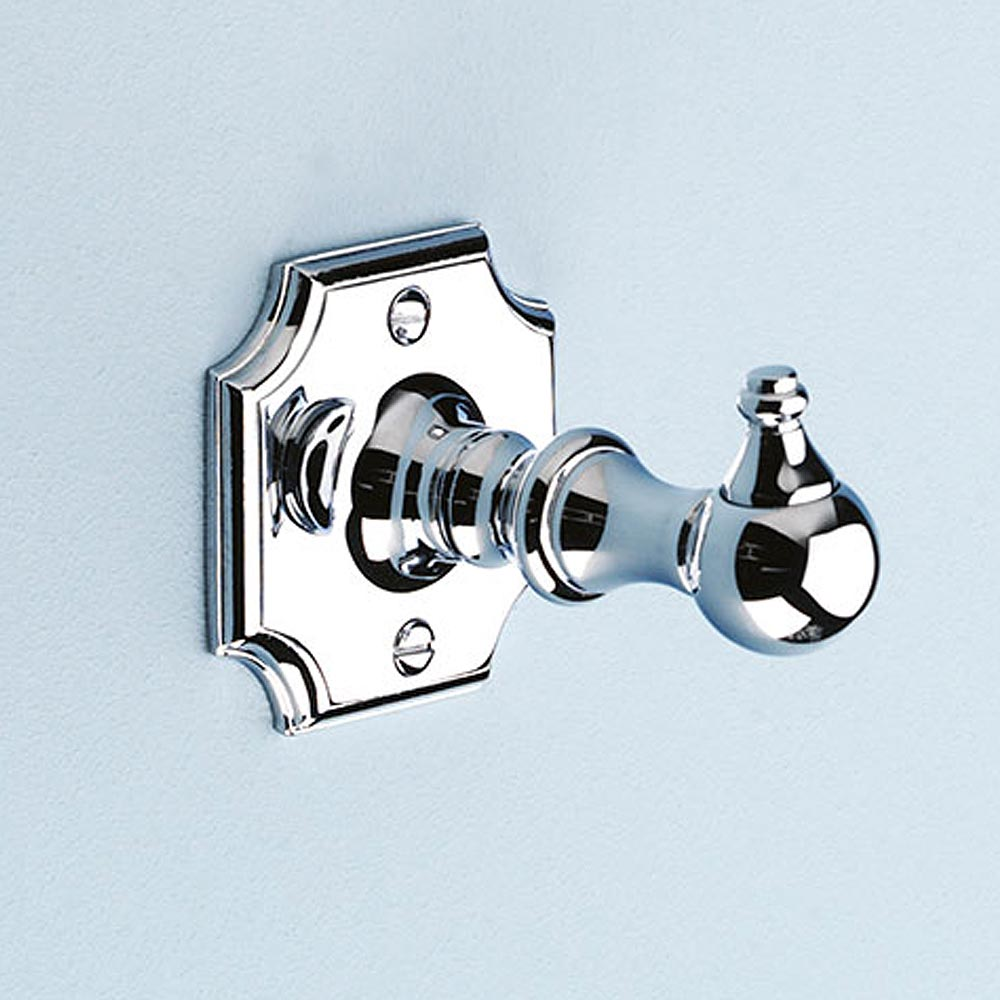 Silverdale Luxury Victorian Robe Hook - Polished Chrome profile large image view 1