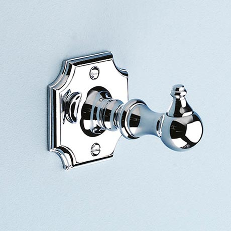 Silverdale Luxury Victorian Robe Hook - Polished Chrome