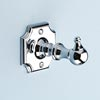 Silverdale Luxury Victorian Robe Hook - Polished Chrome profile small image view 1