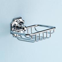 Silverdale Luxury Victorian Soap Basket - Chrome Medium Image