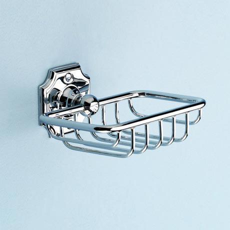 Silverdale Luxury Victorian Soap Basket - Chrome