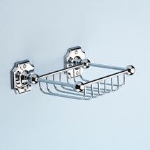 Silverdale Luxury Victorian Sponge Basket - Chrome Medium Image