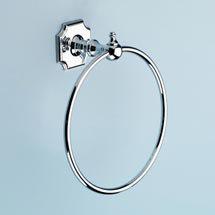 Silverdale Luxury Victorian Towel Ring - Polished Chrome Medium Image