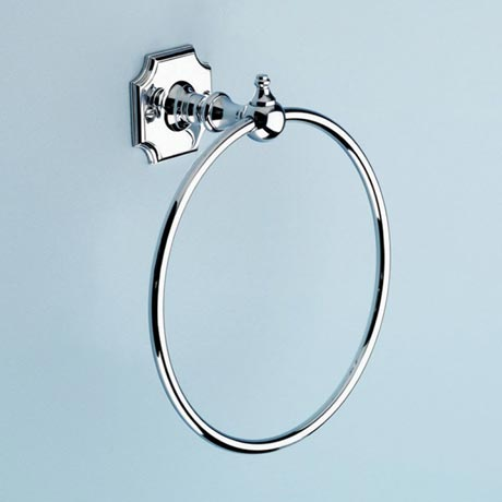 Silverdale Luxury Victorian Towel Ring - Polished Chrome
