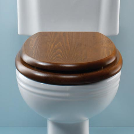 Silverdale Traditional Luxury Dark Oak Wooden Toilet Seat